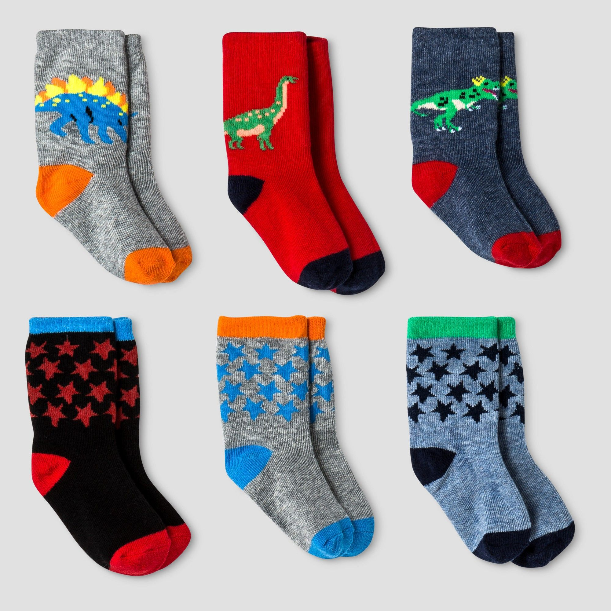 Baby Boys Crew Dress Socks 6pk Cat & Jack Navy 12 24M Blue
