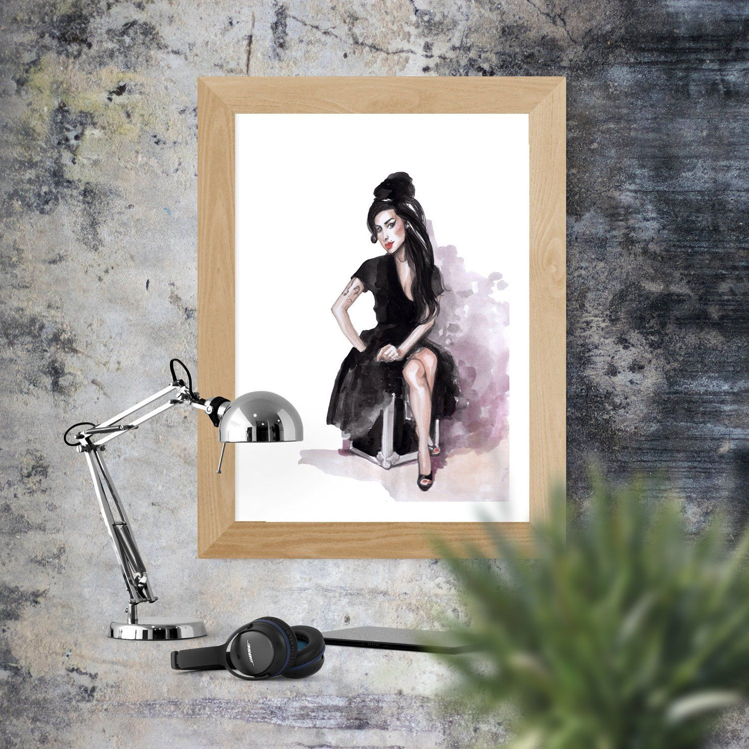 Amy Winehouse Watercolor Painting Music Legends Wall Decor Printable Wall Art Wall Art Instant Download Printable Wall Art Wall Printables