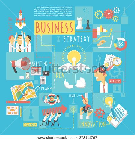 Startup Business Plan Strategic Schema With Infographic Elements