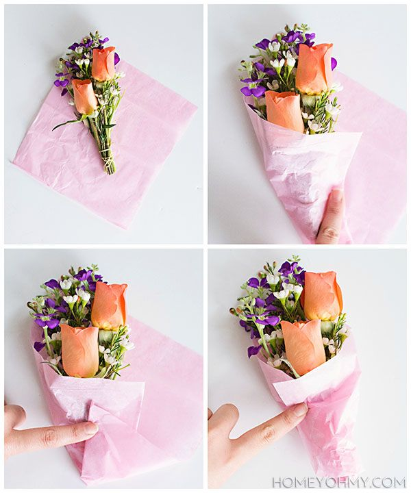 Diy Mini Flower Bouquets Homey Oh My How To Wrap Flowers