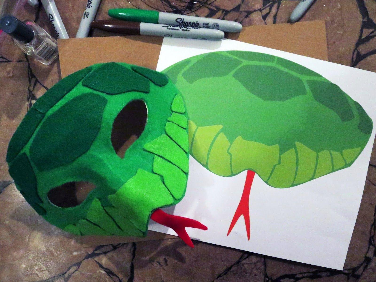 DIY Felt Snake Mask | School Play | Pinterest | Snake, Masking and ...