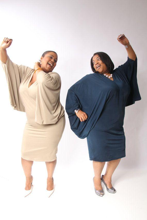 Knit Evening Dress  Full Figured by KrownGewels on Etsy, $175.00