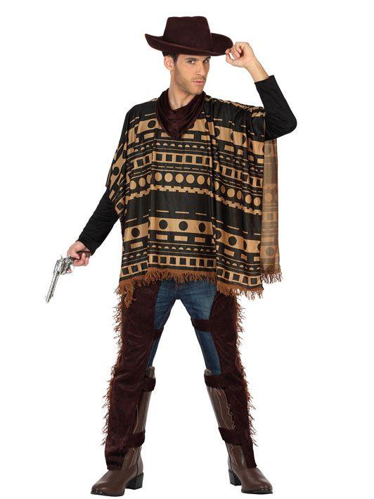 Verruchter Cowboy Kostum Wilder Westen Plus Size Braun Beige