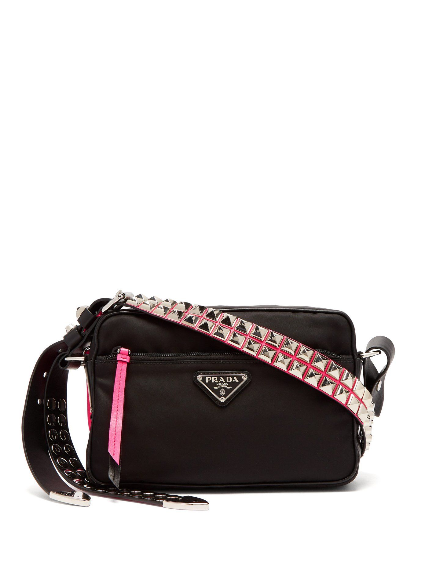 97107deddeff New Vela studded nylon shoulder bag
