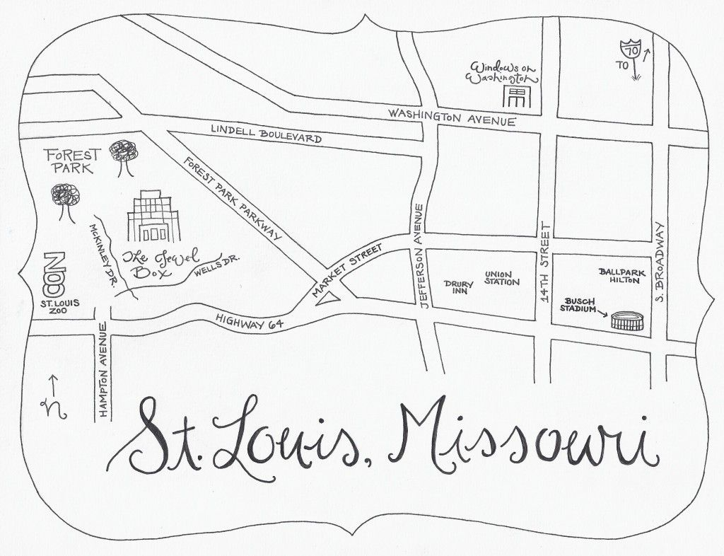 Fun hand drawn map for wedding directions...I like this idea! | From ...