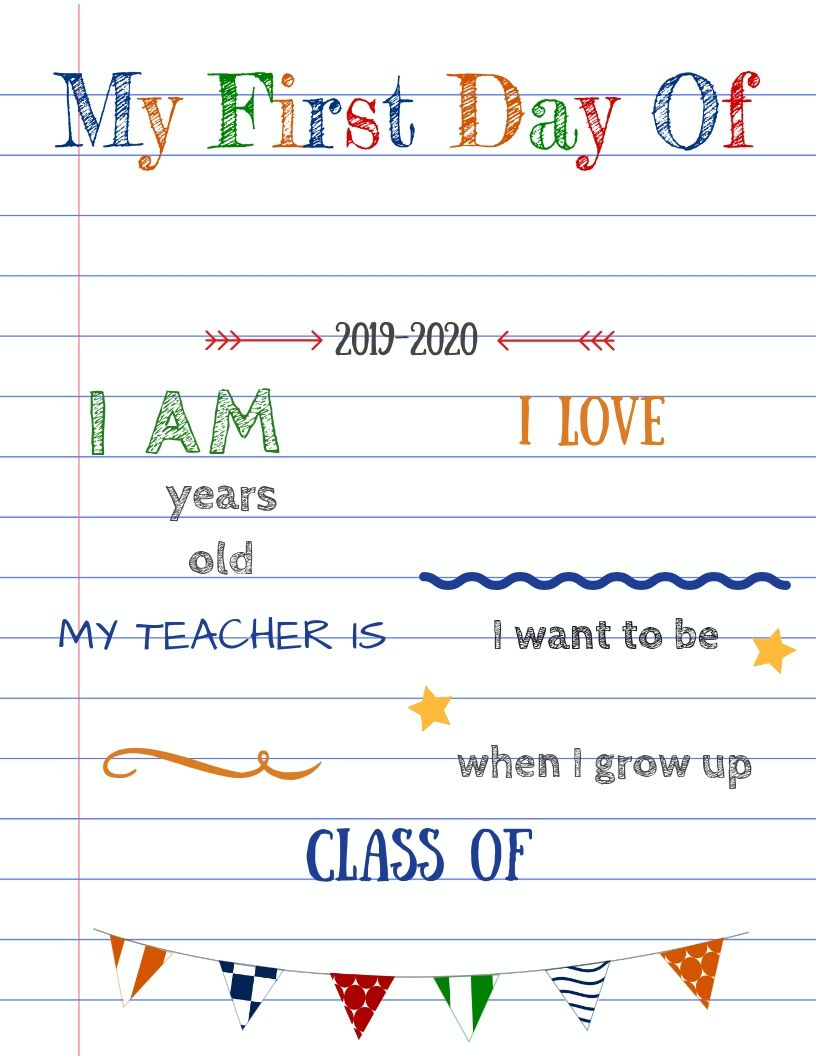 Editable first day of school signs to edit and download for FREE! #firstdayofschoolsign