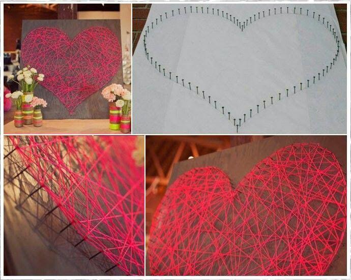 Cuadro con forma de corazon ideas se necesita panel - Manualidades con cuadros ...