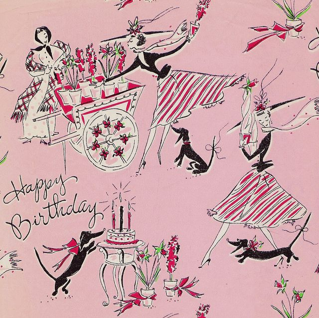 Vintage Happy Birthday Gift Wrap