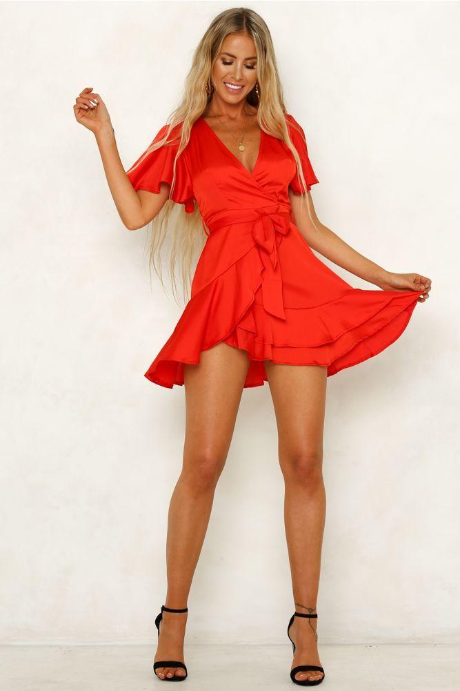 So Yesterday Dress Red