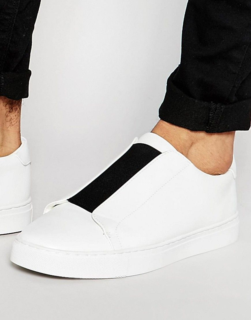 ASOS Trainers in White With Chunky Sole