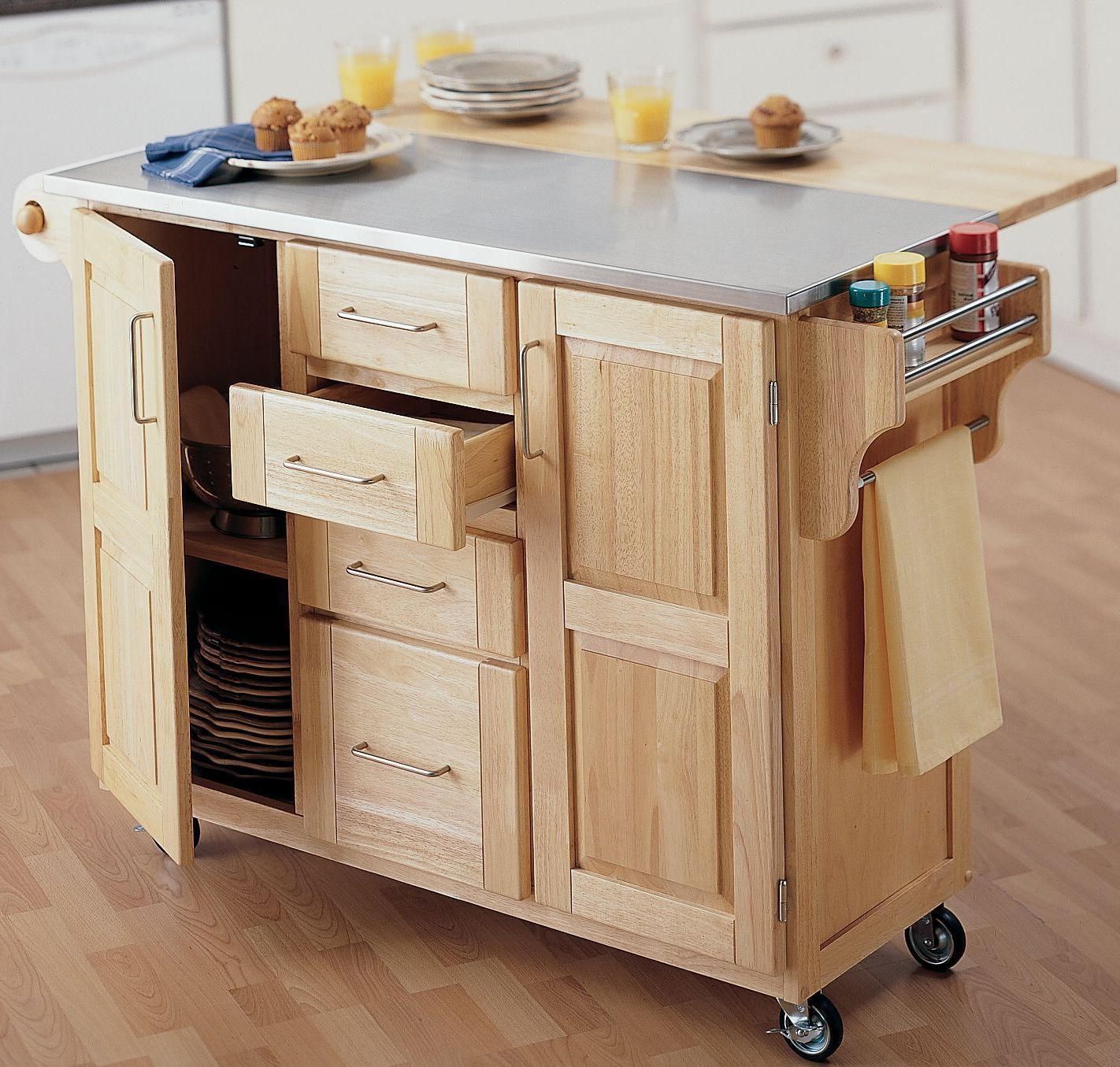 Ikea Portable Kitchen Island With Seating: Movable Kitchen Island Duration Diy And Extend Your Island