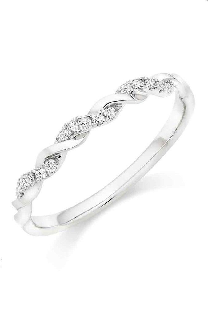 Womens Beaverbrooks Platinum Diamond Twist Wedding Ring Silver In 2020 Silver Wedding Rings Diamond Eternity Ring