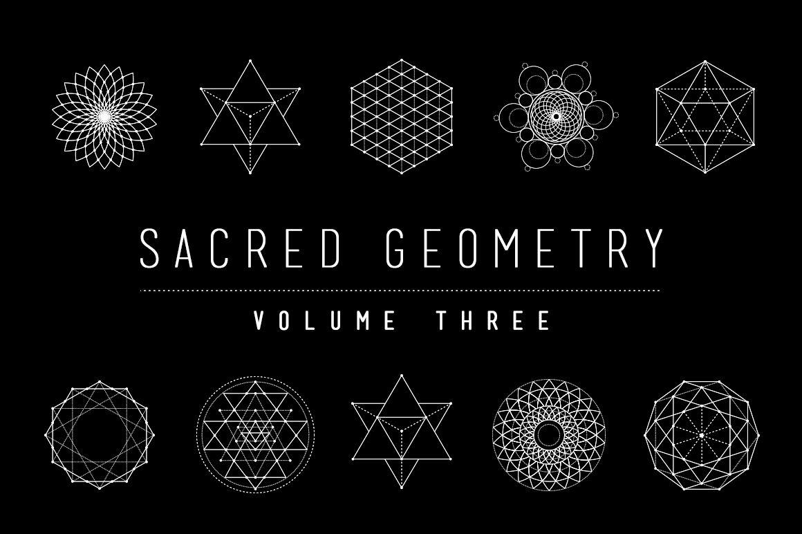 sacred geometry vector bundle by skyboxcreative on creativemarket