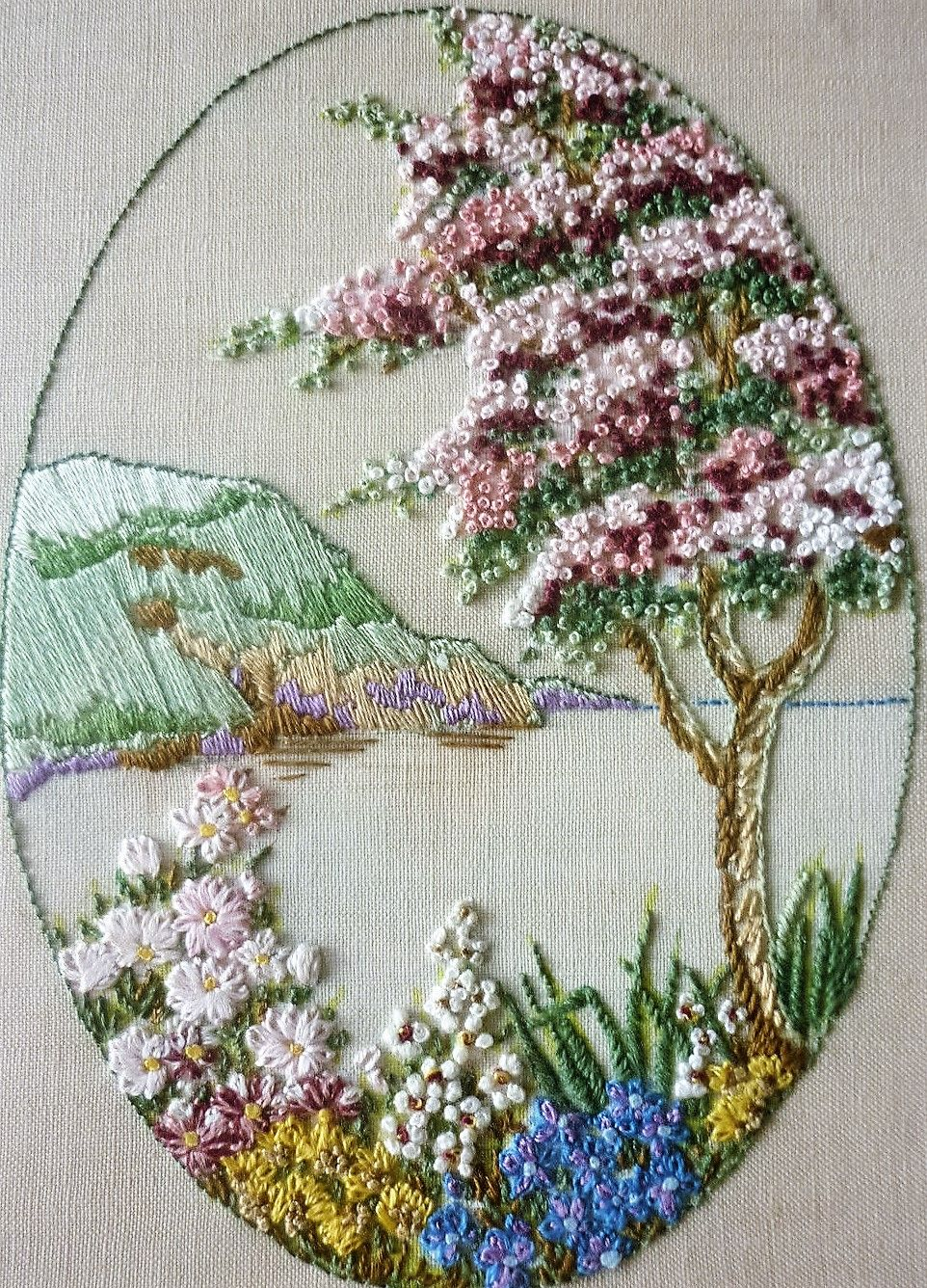 landscape done in embroidery exquisite embroidery and