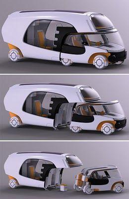 Colim Concept : A Cool Combination of A Car and A Caravan Camper