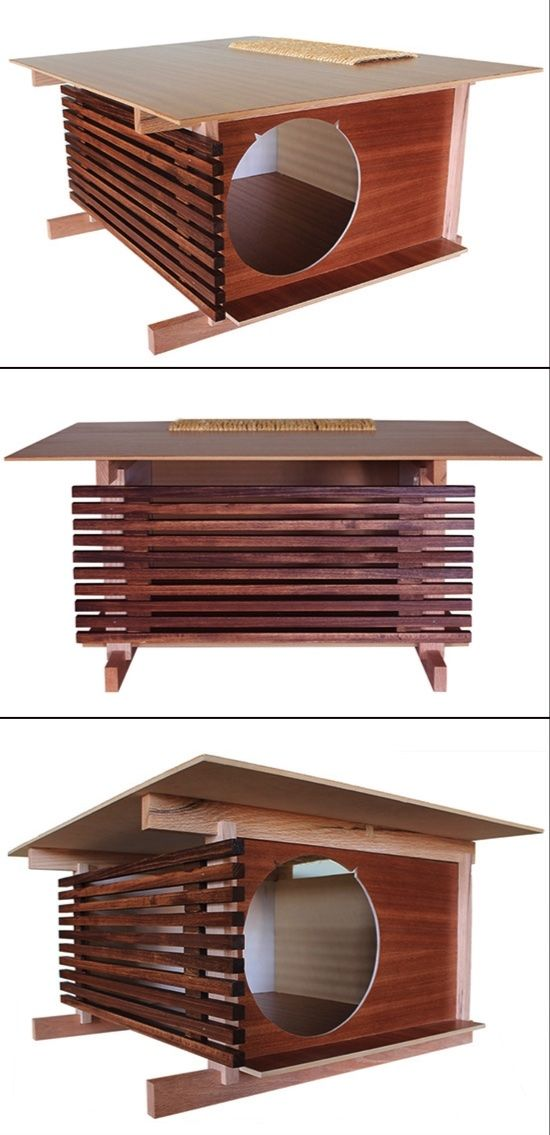 Modern Post and Beam Cat House From Davies Decor #africanbeauty