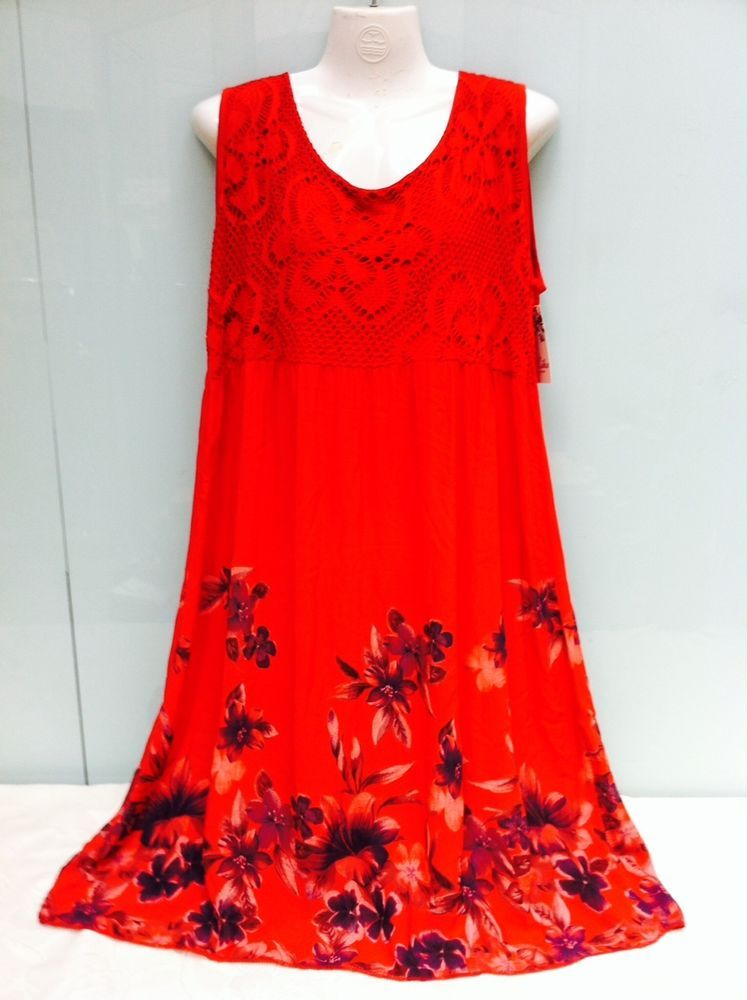 Bezauberndes Kleid –Sommerkleid, Strandkleid mit spitze ITALY Gr 46,48,50,52 NEU
