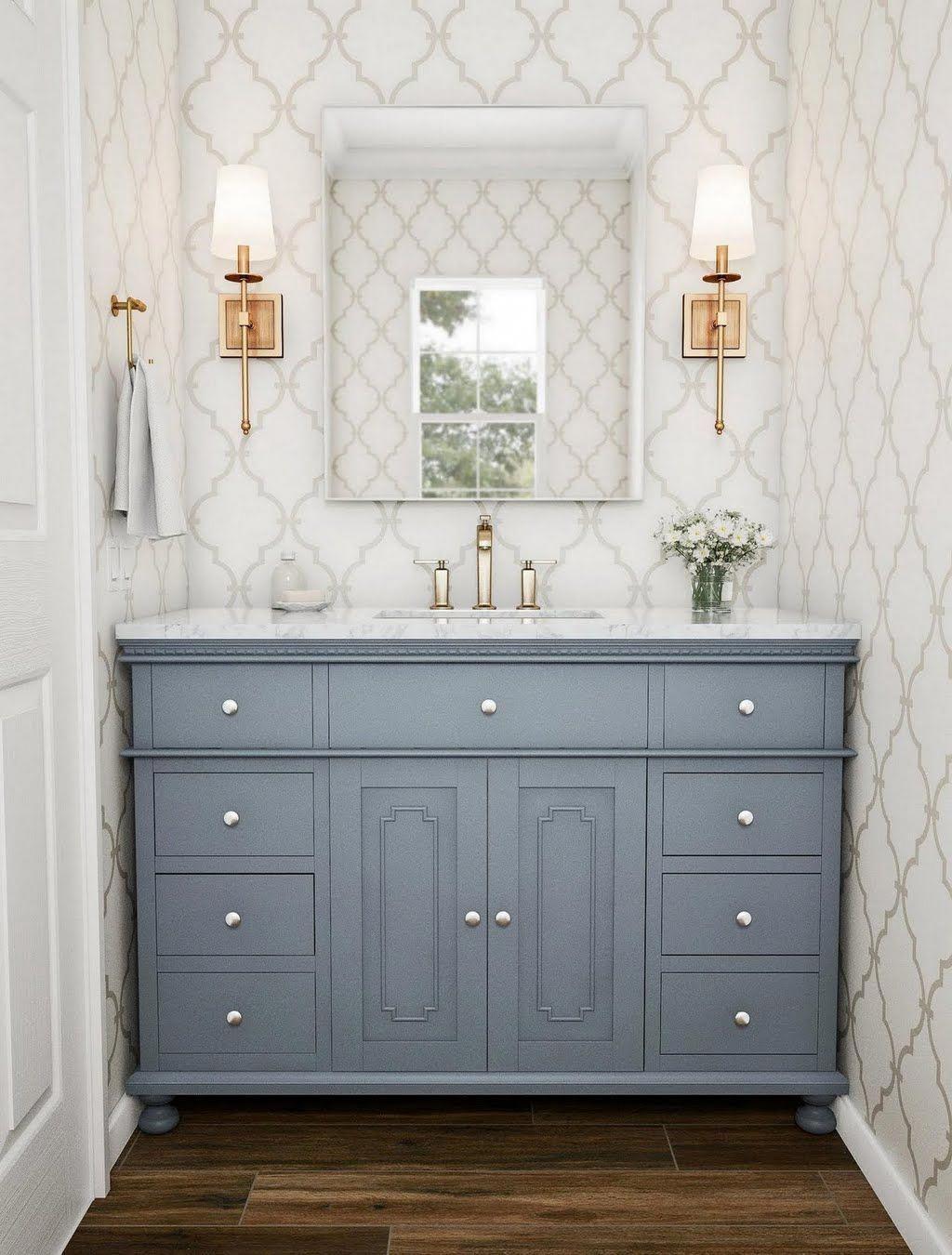 stufurhome 48 in. Abigail Embellished Single Sink Vanity