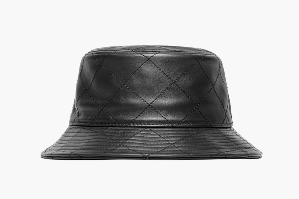 Stampd Quilted Leather Black Bucket Hat e02ebb0227f