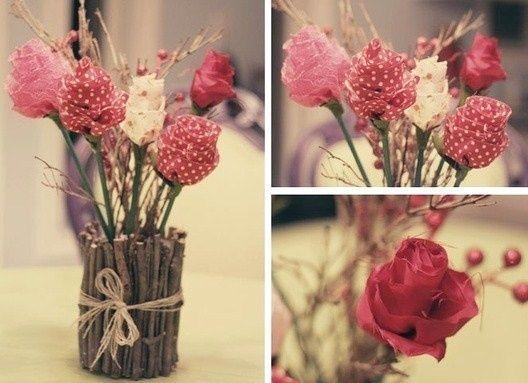 faire de faux bouquets en tissu des mod les mariage lin et rose pinterest bouquet fausse. Black Bedroom Furniture Sets. Home Design Ideas