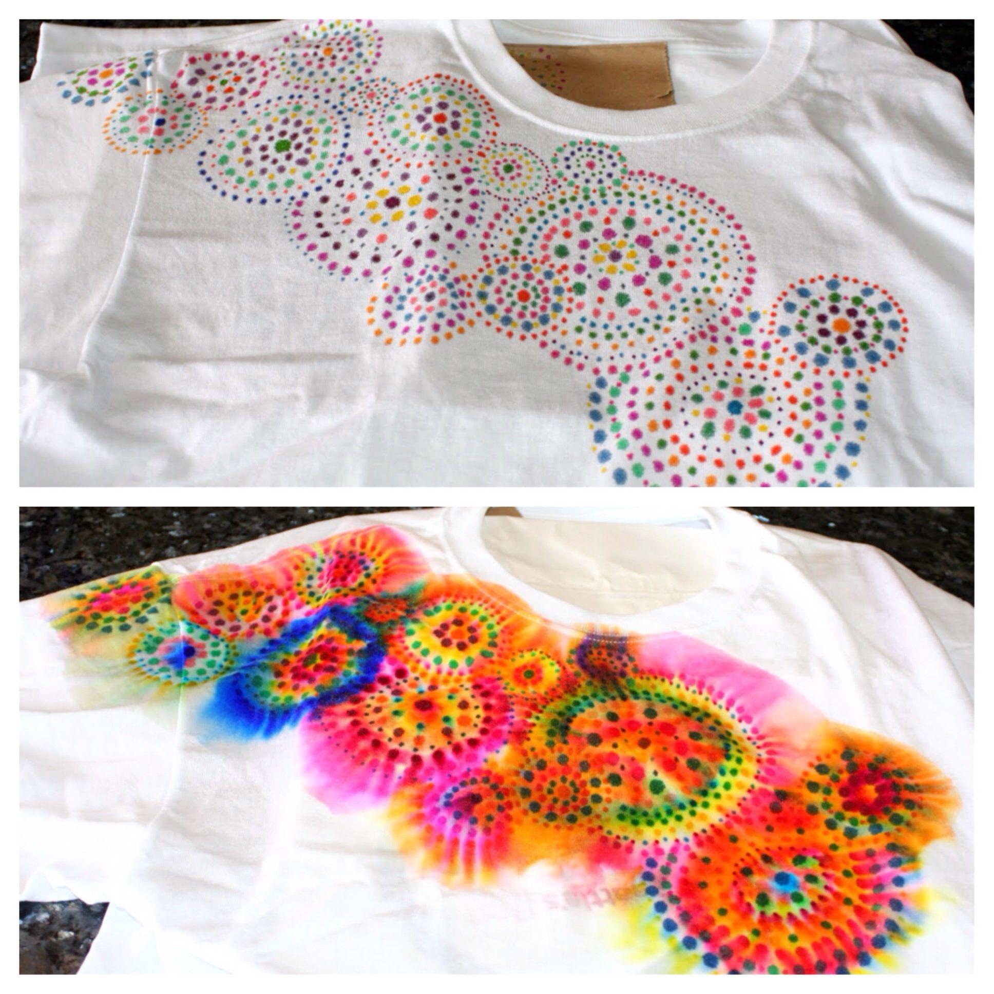 Complex Sharpie Tie Dye Diy Crafts Pinterest