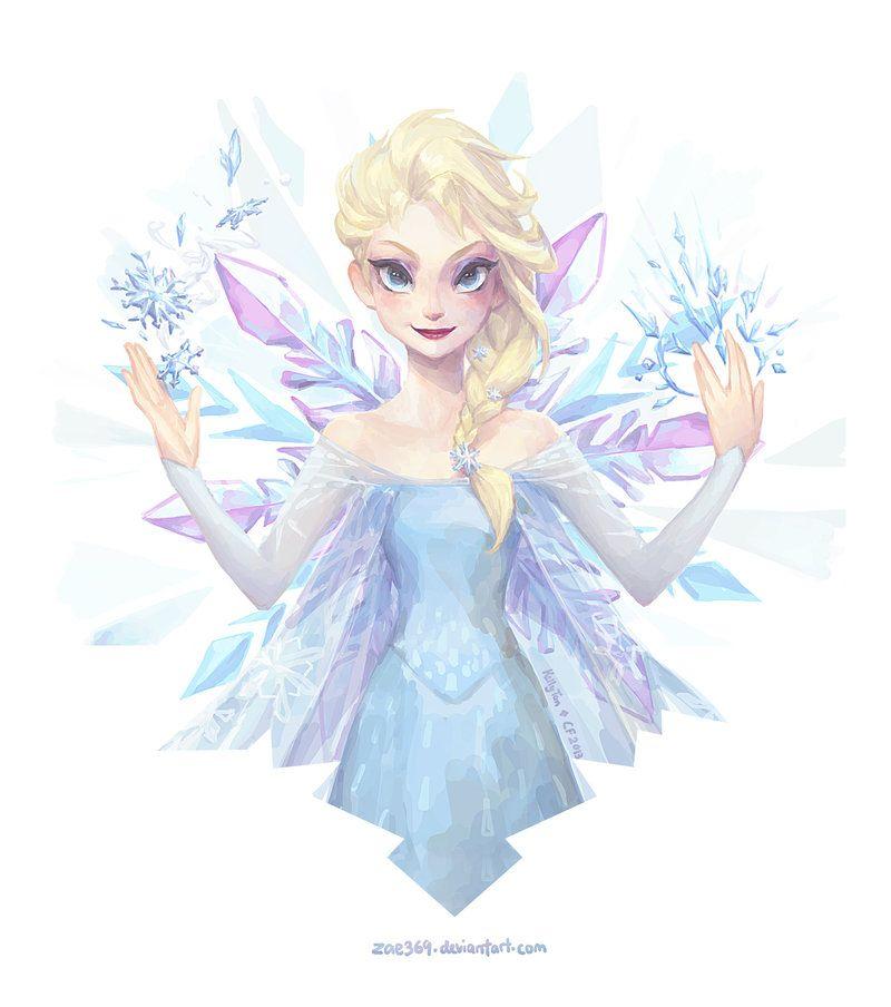 Crystalline - Queen Elsa by Zae369.deviantart.com on @DeviantArt