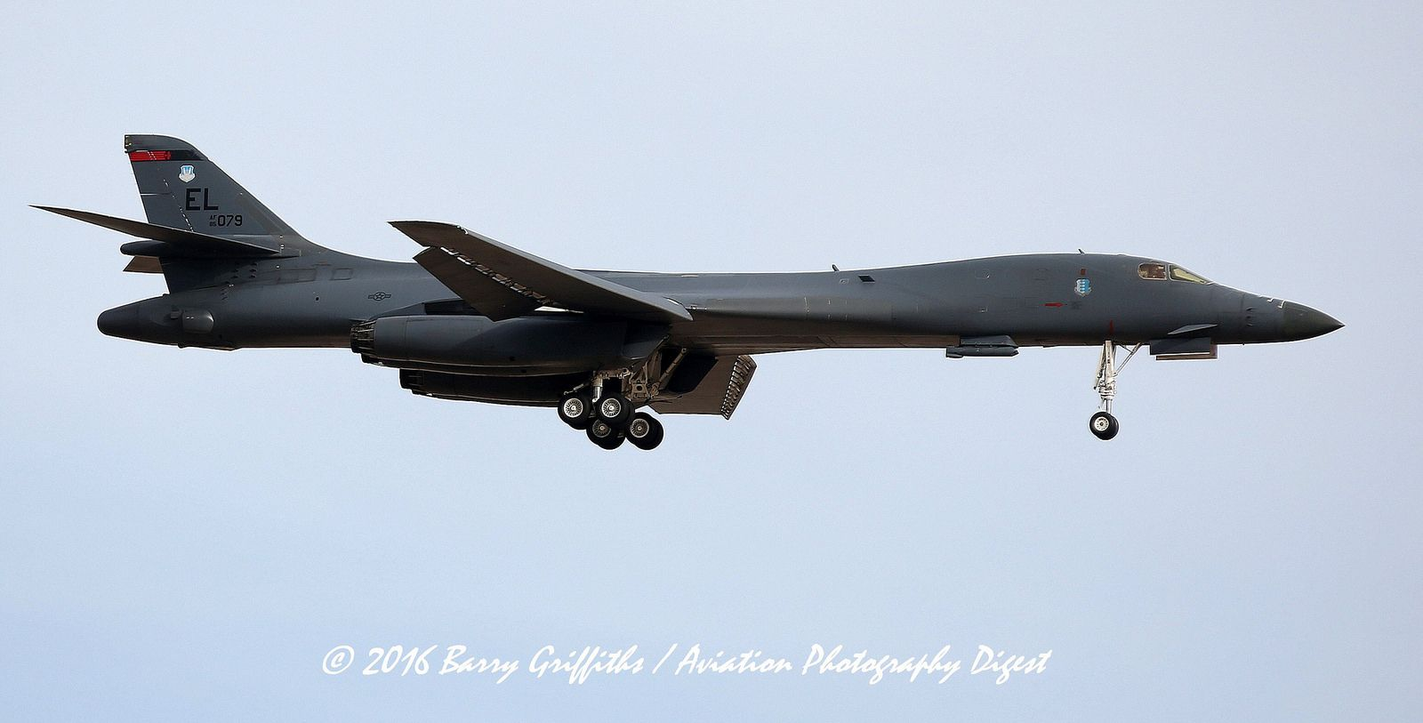 "BLUE TEAM RECOVERY: RED FLAG 16-2 Rockwell B-1B Lancer USAF 85-0079 37th BS ""Tigers"" 28th BW, Ellsworth AFB, SD"