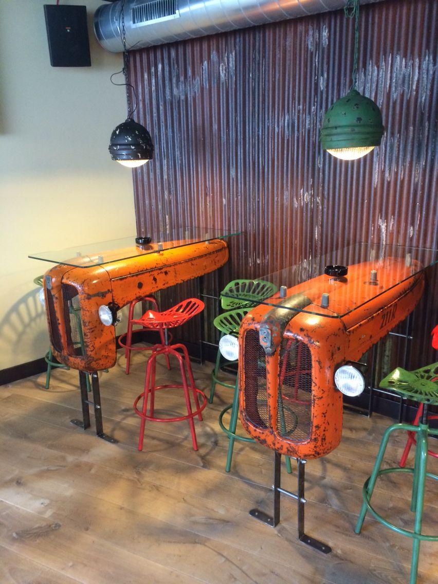 Antique Tractor Furniture : Tractor table koffieshop birdy haarlem projecten om te