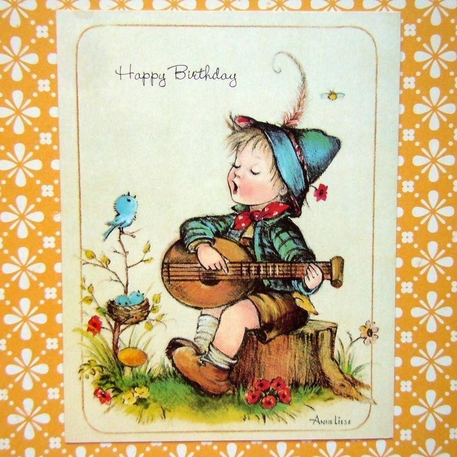 Vintage Unused Birthday Greeting Card