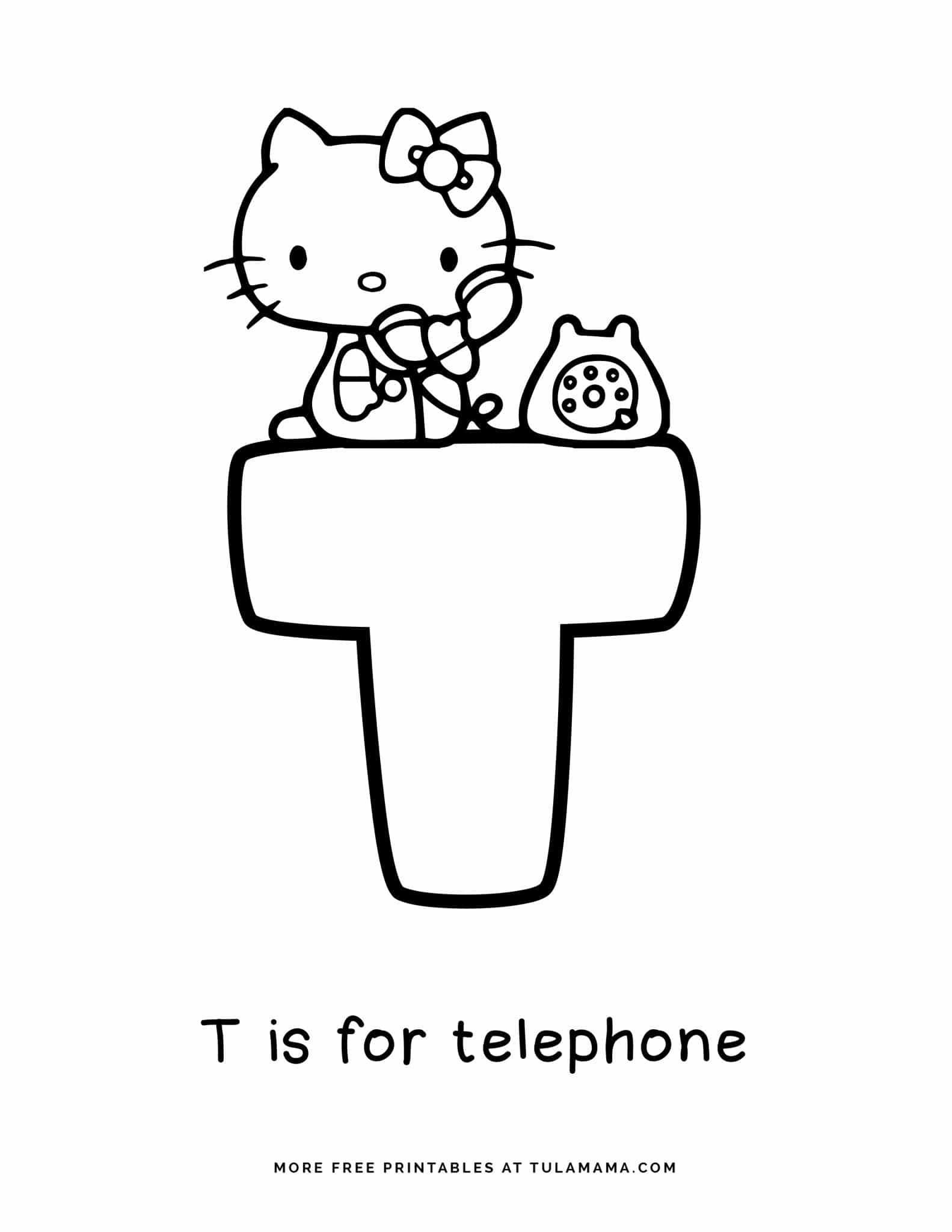 Free Hello Kitty Printables And Abc Coloring Pages In 2021 Abc Coloring Pages Abc Coloring Hello Kitty Printables