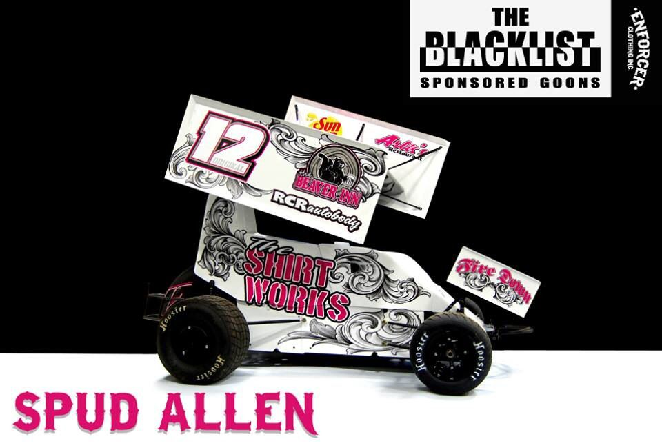 Spud Allen 2013 car by Fire Down Graphics a PMP Chassis