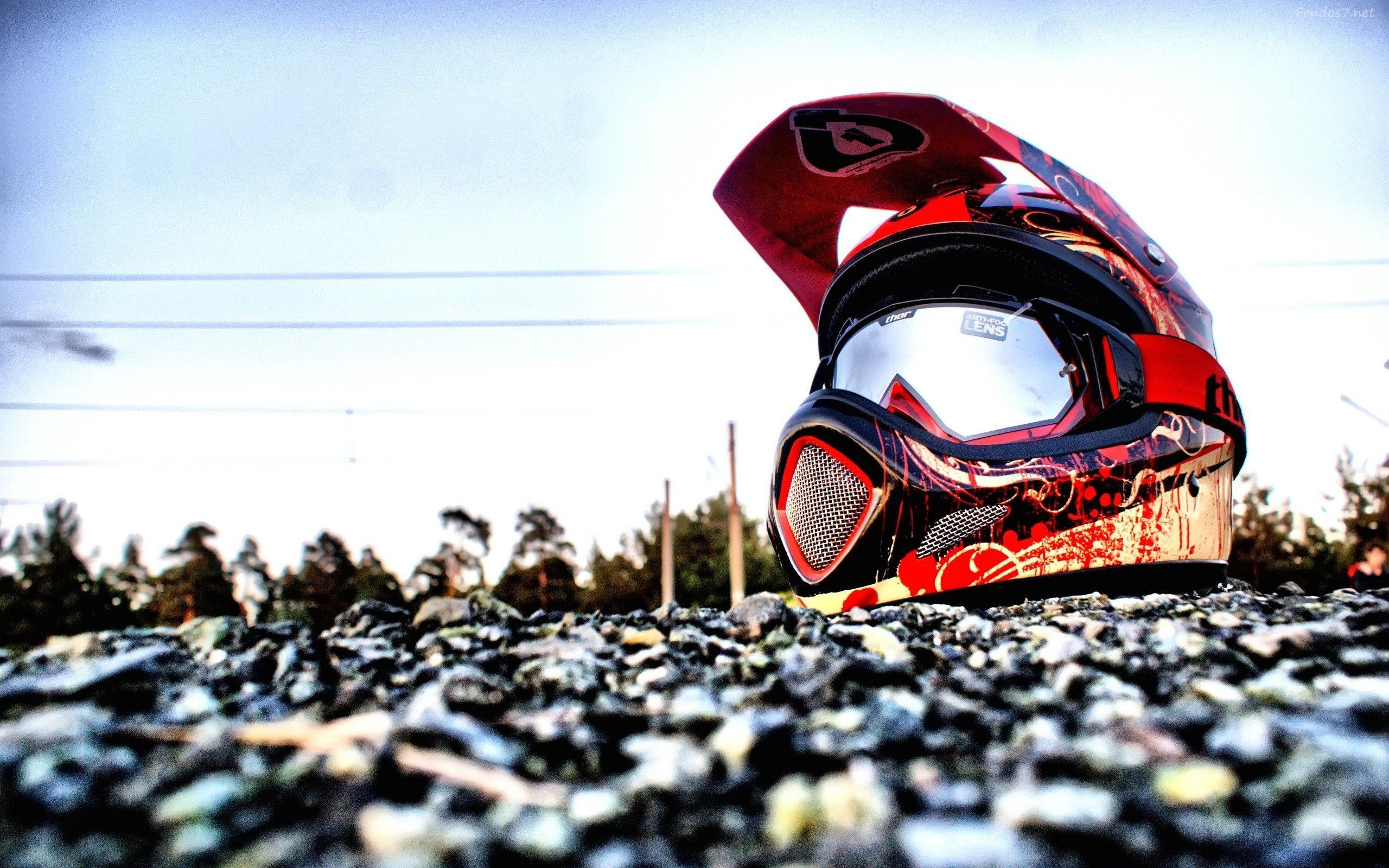 wallpaper motocross 4k celular di 2020 Sepeda, Helm