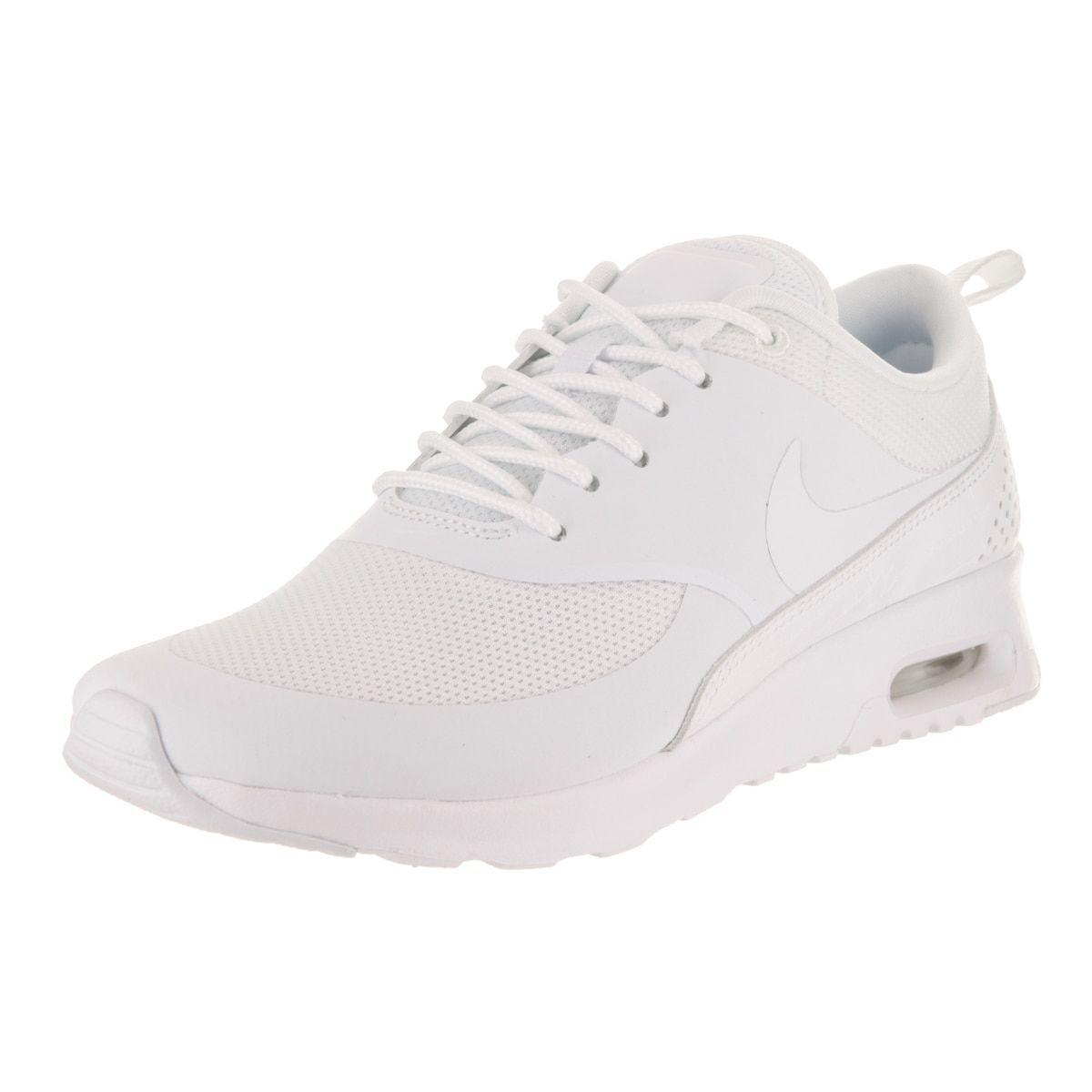 5853e9df31f2 Nike Women s Air Max Thea White Textile Running Shoe (10)