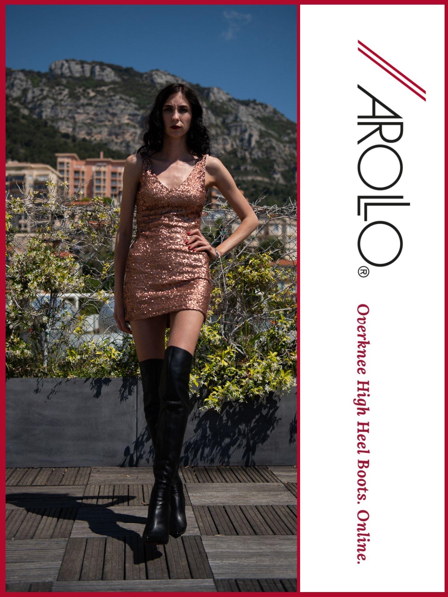 AROLLO Thigh High Boots Stiletto Roma overknee stiefel