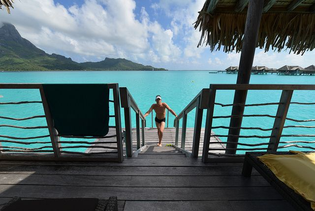 accommodation in overwater bungalows and jungle villas