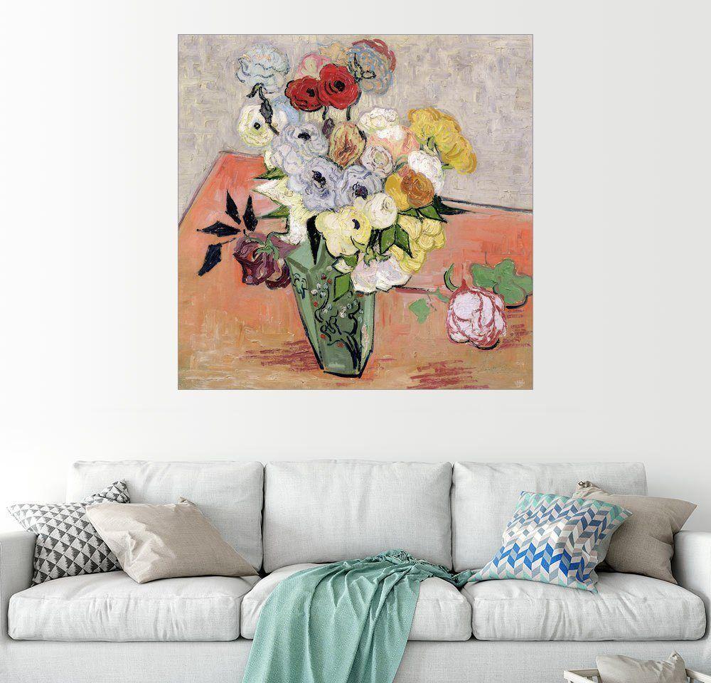 Posterlounge Wandbild - Vincent van Gogh »Rosen und Anemonen« Jetzt ...