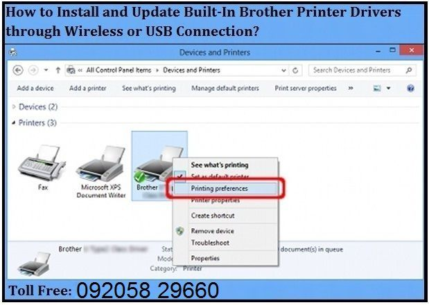 Use the below steps to install Brother Printer Built-In