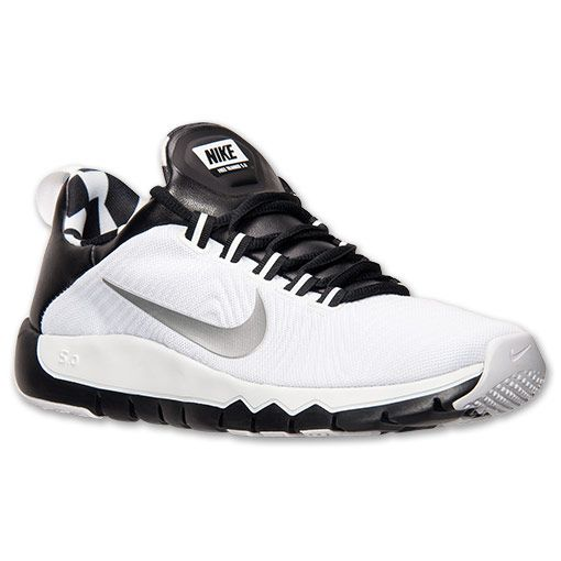 Men's Nike Free Trainer 5.0 Training Shoes | Finish Line | White/Metallic  Silver/