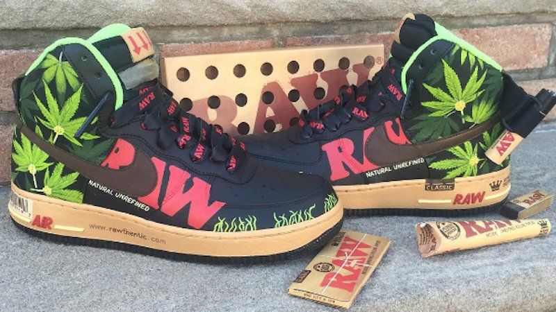 King Size Supreme Raw Nike Shoes