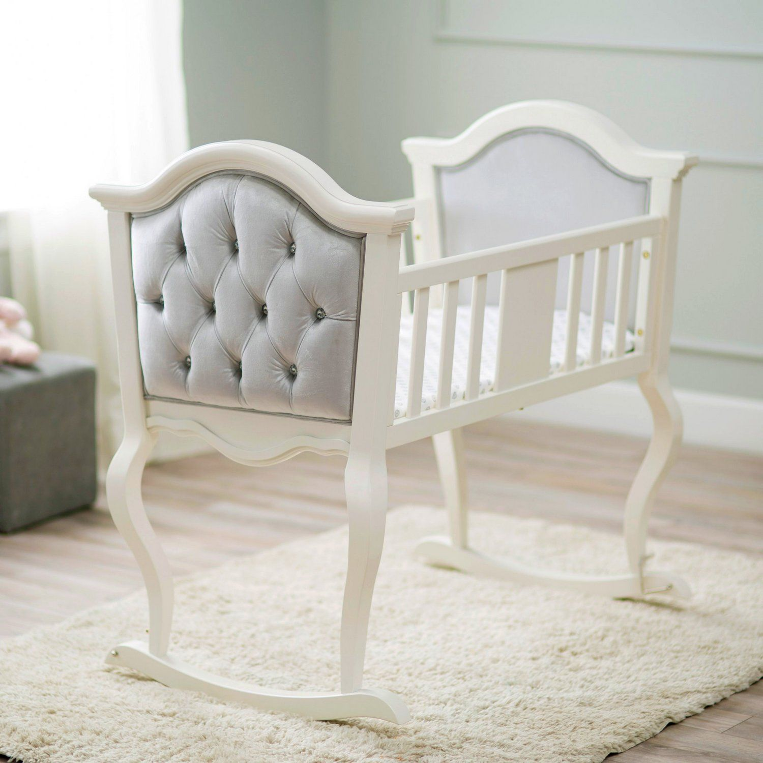 White Wooden Bassinets Baby products Pinterest