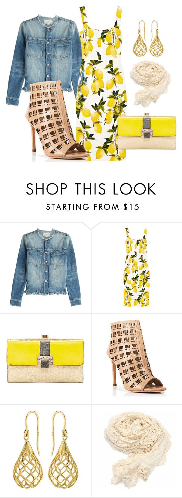 """""""Spring 2"""" by jakjakjak ❤ liked on Polyvore featuring Current/Elliott, Dolce&Gabbana, Rebecca Minkoff, Charles David, Elements, women's clothing, women, female, woman and misses"""