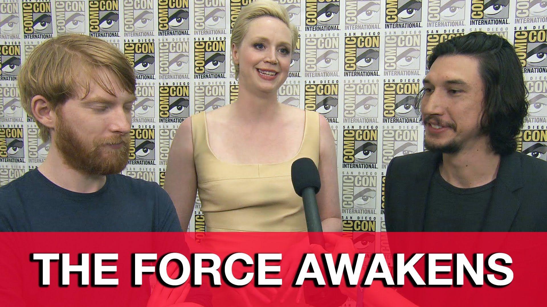Star Wars The Force Awakens Interview Adam Driver Gwendoline Christie Domhnall Gleeson Force Awakens Star Wars Domhnall Gleeson