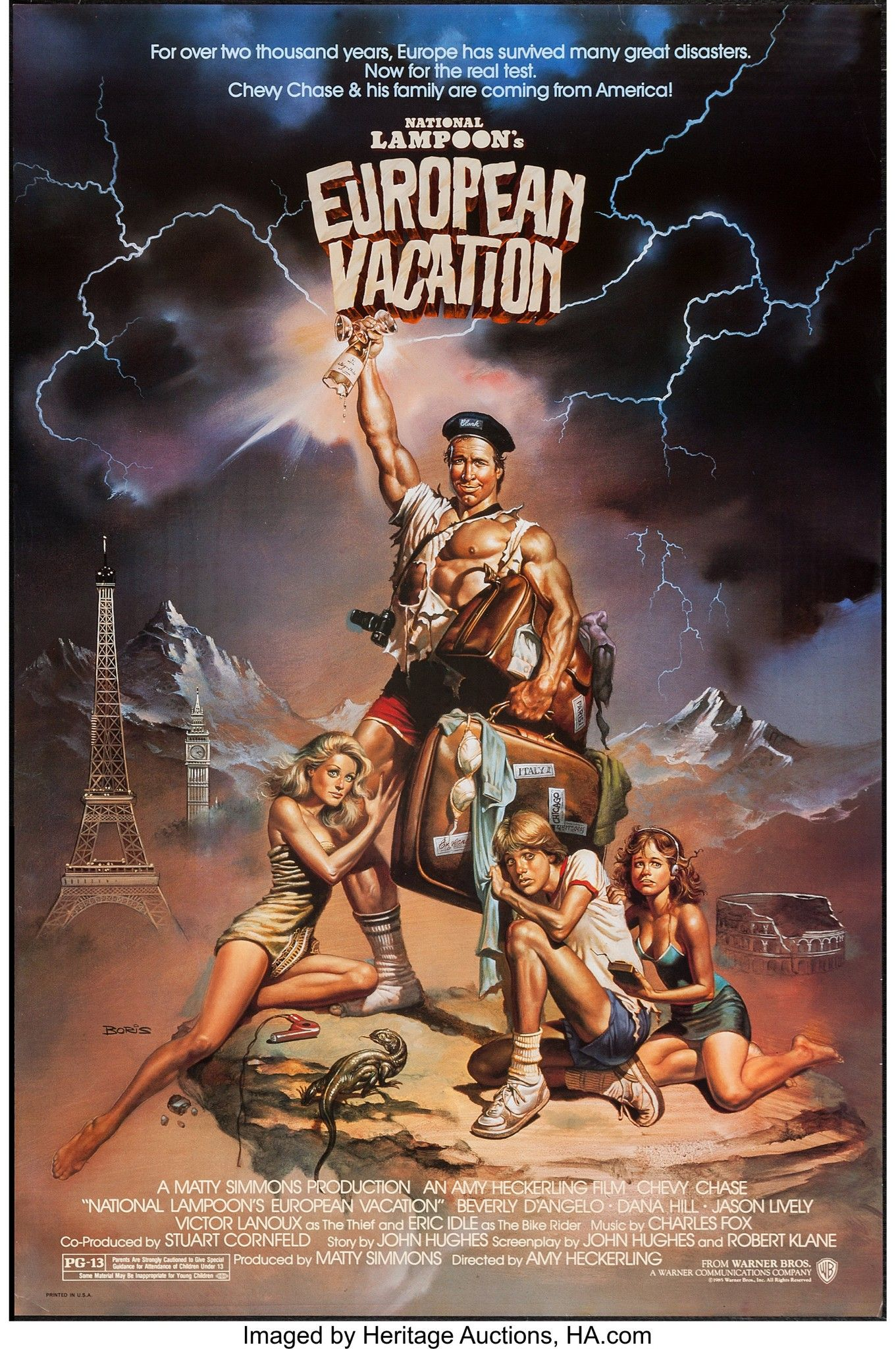 Vegas Vacation Poster: NATIONAL LAMPOON'S: EUROPEAN VACATION (1985) (With Images
