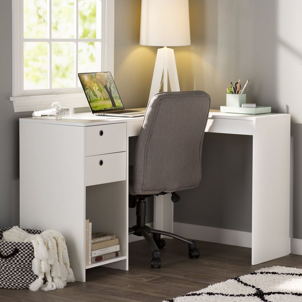 Desk For Bedroom Corner Student L Shape Drawers White Home Office College Dorm Thomasampjames Home Office Furniture L Shaped Desk Home Office Design