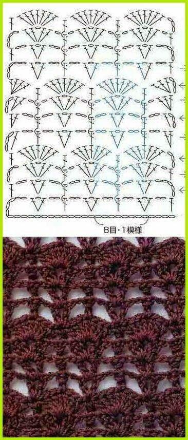 7.jpg (366×857) | puntadas | Pinterest | Puntos para tejer ...