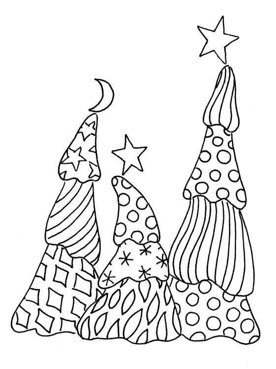 Christmas Tree Zentangle Coloring page | Free coloring pages ... | 750x561