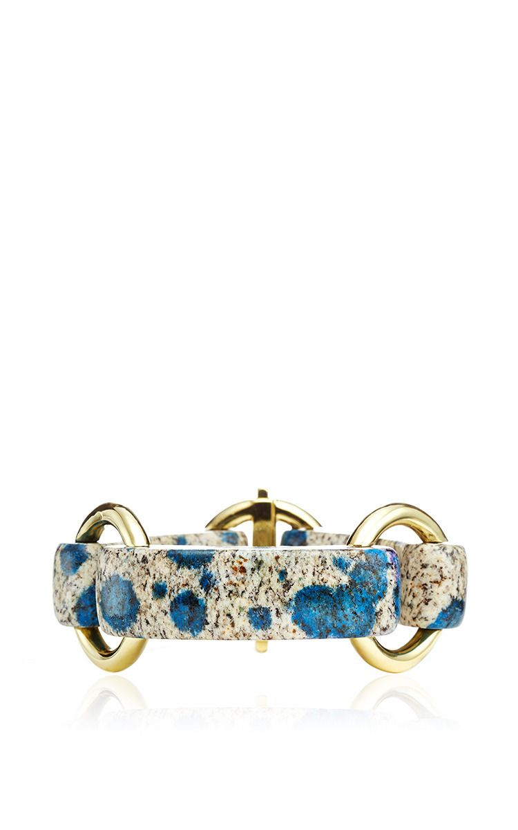 18k Yellow Gold And K2 Blue Granite Vicenza Bracelet By Nicholas Varney For Preorder On Moda Operandi