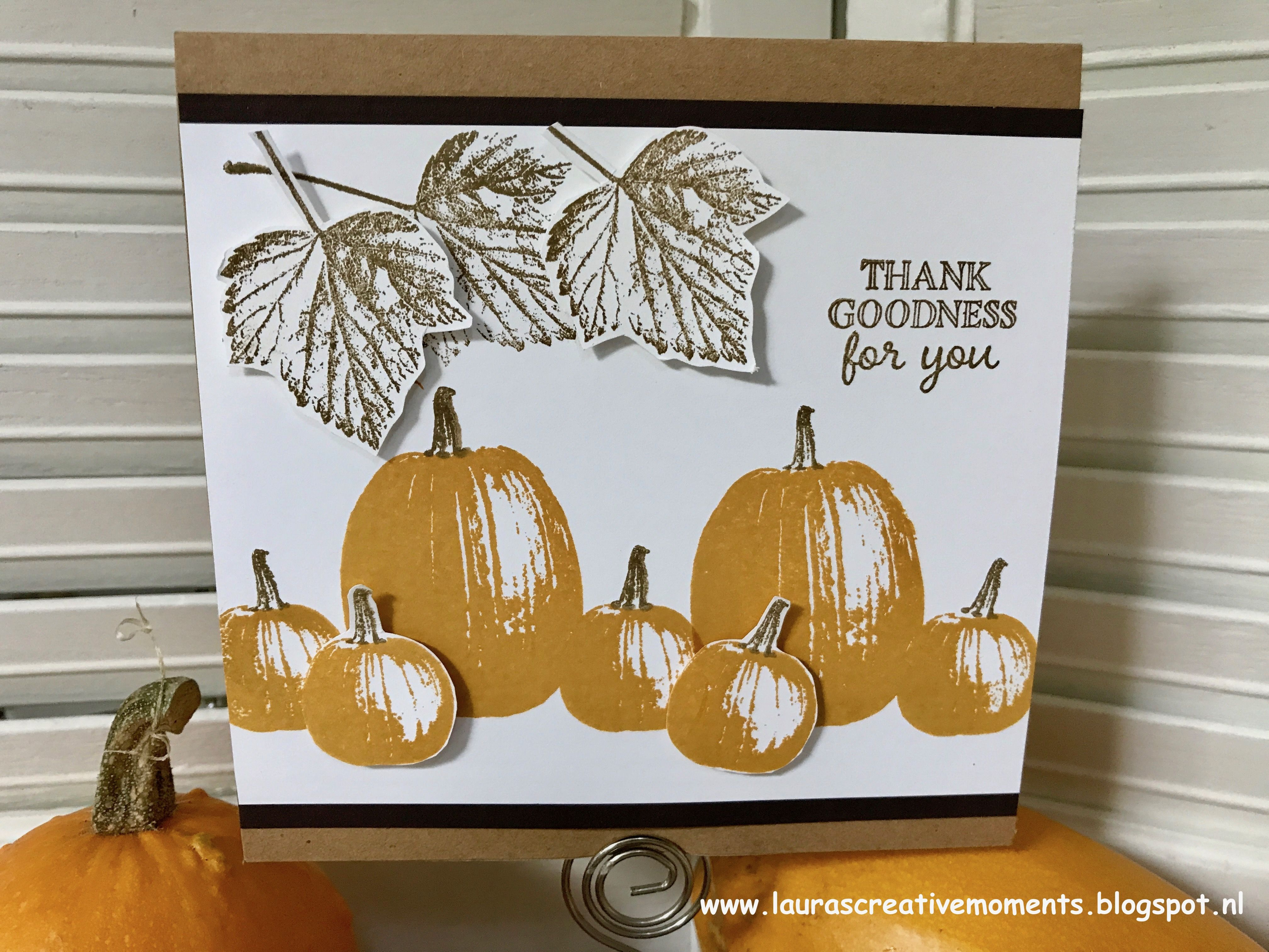 Thank Goodness For You Pumpkin Cards Gourds And Card Ideas