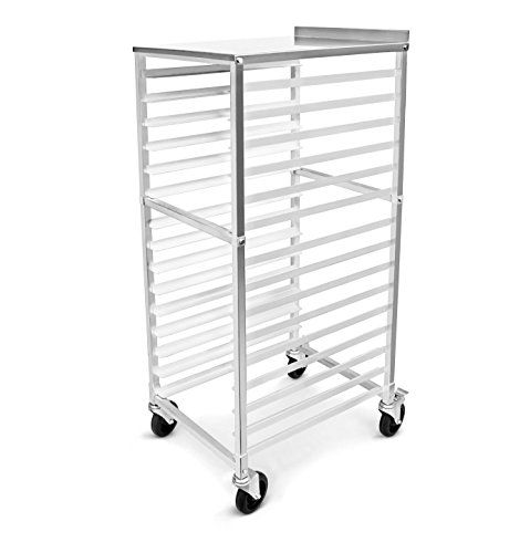 New Star Foodservice 42962 Aluminum 15tier Bun Pan Rack With Stainless Steel Backsplash Top Silver This Is An Stainless Steel Backsplash Aluminum Backsplash