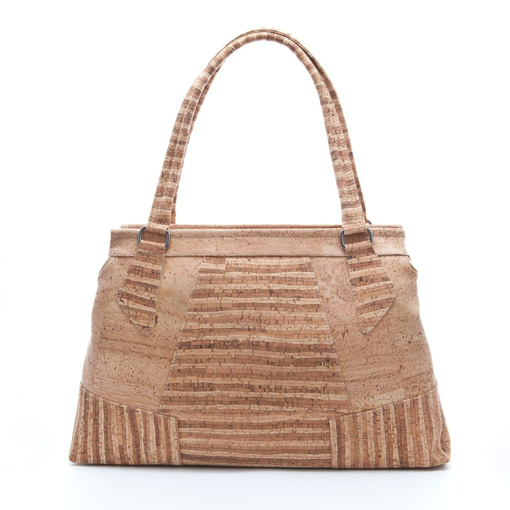 Elegant and roomy handbag made of silky smooth cork leather. Sustainable, vegan. CHF 260.00
